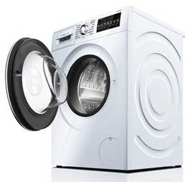 Example of a washer with open door.