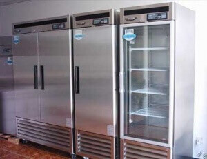 Commercial appliance repair example of ommercial refrigerator.