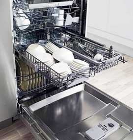 Open Asco dishwasher.