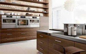 Kitchen full of Bosch appliances.
